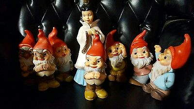 Rare Vintage Heissner Snow White & the 7 Dwarves - Gnomes Hard to Find