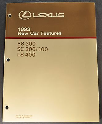 1993 Lexus Dealer Only Brochure LS 400 ES300 SC300 SC400 Excellent Original 93