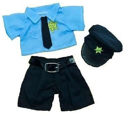"8"" Blue Policeman Police Bear & Hat Teddy Clothes Fits 8""-10"" (20Cm) Teddy Bears"