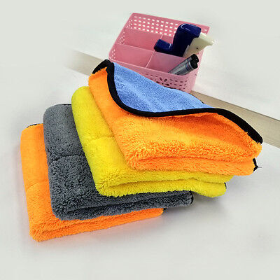 Auto Car Soft Cleaning Cloth Towel Drying Waxing Plush Microfiber Polish 45*38cm