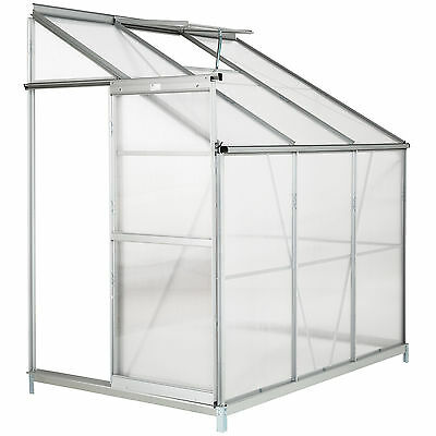 Lean to Greenhouse with foundation alu polycarbonate growhouse garden 4,09m³