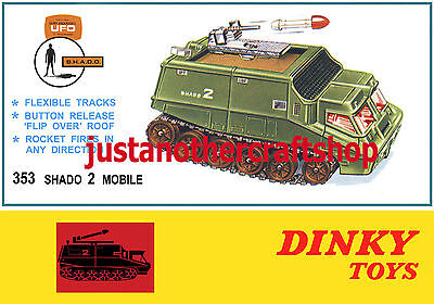 Dinky Toys 353 UFO Shado 2 Gerry Anderson A4 Size Poster Leaflet Shop Sign