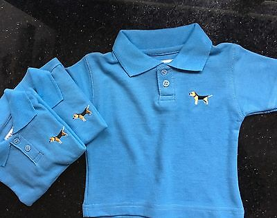 Boys, Girls Designer Baby Polo Shirt By Baby Barkers Brand New 9-12 Months