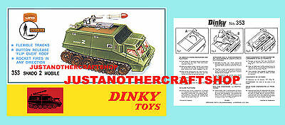 Dinky Toys 353 UFO Shado 2 Gerry Anderson Instruction Leaflet and Poster Advert