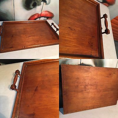 Large Antique c1900's Pine Australian Serving Tea Tray