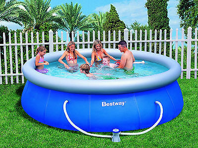 BRAND New Bestway Inflatable Family 12 Ft Fast Set Above Ground Pool 3.66m*76cm