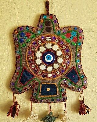 Vintage Evil Eye Amulet Wall Hanging Wool Felt Home Decoration Lucky Protection