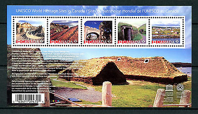 Canada 2017 MNH UNESCO World Heritage 5v M/S Architecture Stamps