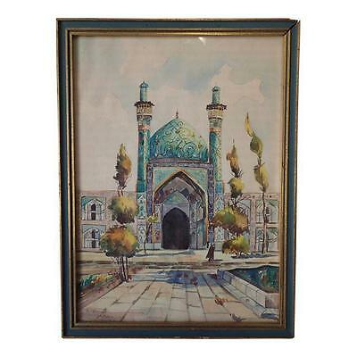 A. Shogay Signed India Watercolor Vintage Old Framed 9.5 X 12.5 '64