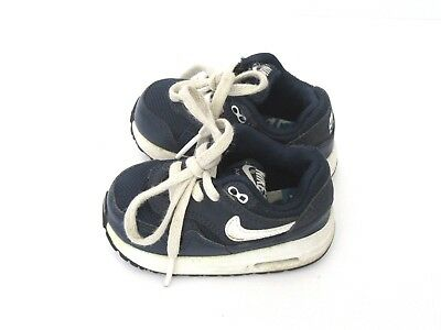 Nike Air Max Infant  Boy  Trainers Blue/white Lace Up Size 3.5 Used