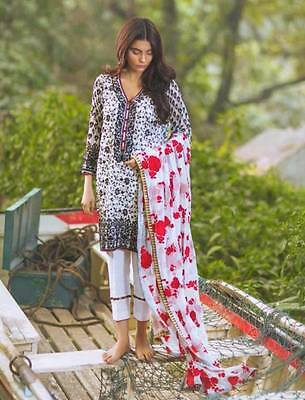Desi/Pakistani/Indian/ShalwarKameezDesigner Meena Hassan Chiffon3pc/Suit Medium
