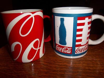 Coca Cola Coffee Mugs ~ Lot of (2)