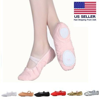 Ballet Dance Slipper Split-Sole Canvas Shoes  # 1 Fashion Toddler Girl & Adult