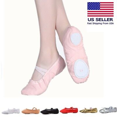 Ballet  Dance Yoga Gymnastics Split-Sole  Canvas  Kid & Adult  Shoes Slipper