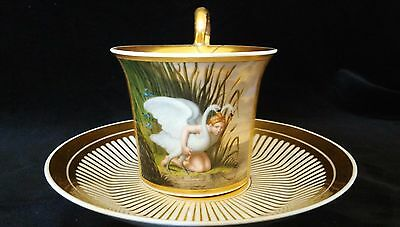 Magnificient Royal Vienna Exhibition Cabinet Cup & Saucer Signed L. Herr