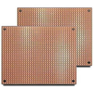 ST2 (Two-Pack) StripBoard, Uncut Strips, 1 Sided PCB, Size 2 = 100 x 80mm (3.94