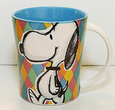 Peanuts Snoopy Coffee Cup Mug, NEW, 16 oz., Gibson Overseas, Blue Interior