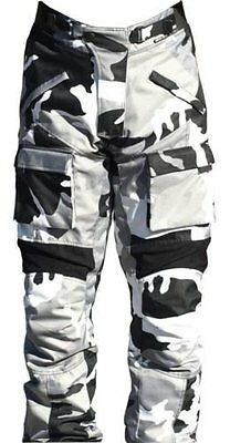 Black Ash Mens Motorcycle Pants Textile Cordura Armored Grey Size 34""