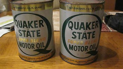 Quaker State Motor Oil Cans - Full Qty = 2