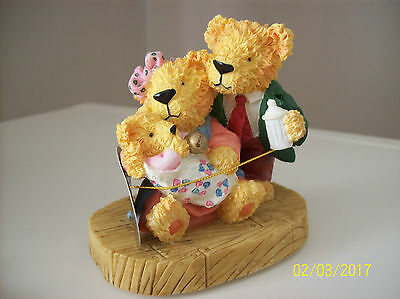 Leonardo Collection Musical New Baby Teddy Ornament New In Box *free Post*