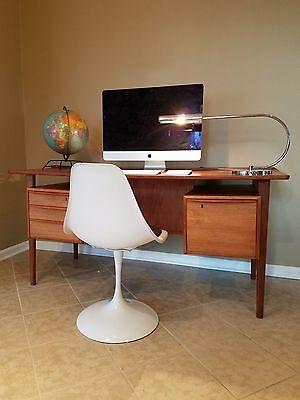 FREE NYC / BOSTON DELIVERY Danish mid century modern Lovig floating top desk