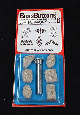 Boss Buttons Australian Designs Embossing Tools For Leathercraft- Free Post!!