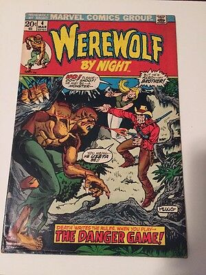 Marvel Spotlight #4 Werewolf by Night (June 1972 Marvel) VG
