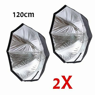 "2 pcs 47""/120cm Octagon Flash Softbox Umbrella For Speedlite Studio Strobe HM"