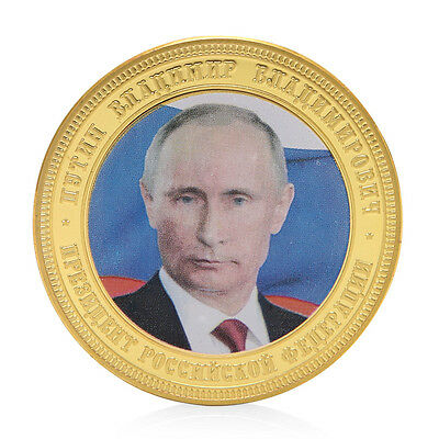 Russia President Putin Crimean Map Golden Commemorative Challenge Coin Token Hot