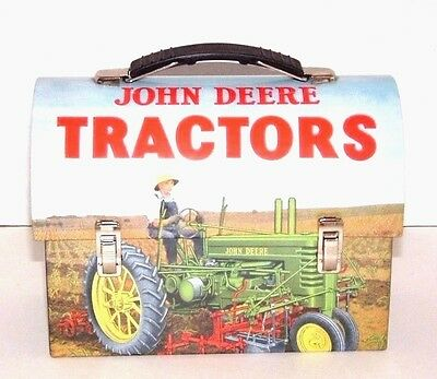 John Deere Tractors,  Lunch Box, Farmer On Tractor In Field