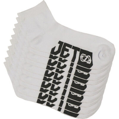 Jetpilot NEW Mx Corp Adults Mens White Grey OSFM Casual Moto Ankle Socks 5 Pack