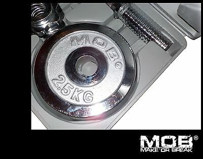 MOB 20kg Weight Set - Fitness Bodybuilders Gym - CHROME - Looks awesome!