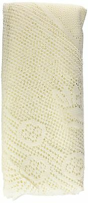 Ritz 69502 Lace Round Tablecloth 70-Inch Ivory