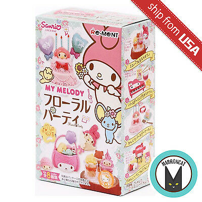 1 blind Box RE-MENT My Melody Floral Party Cake Doll House Miniature Sanrio Cute