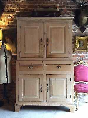 Stunning Antique Housekeepers Cupboard Pantry Solid Pine Victorian 19th Century