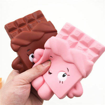 1PC 13CM Jumbo Chocolate Boy Girl Squishy Soft Slow Rise Scented Gift Fun Toy UK