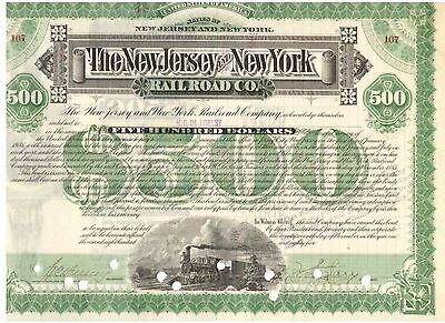 New Jersey and New York Railroad Company  1885