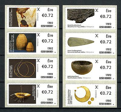 Ireland 2017 MNH History in 100 Objects SOAR 8v in 2 Strips Art Artefacts Stamps