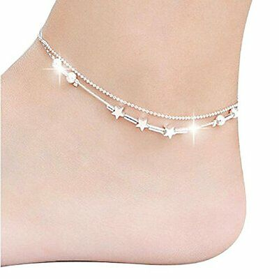 1 PC Women Stella Della Chain Ankle Bracelet, Barefoot Sandal Foot Jewelry I4B7