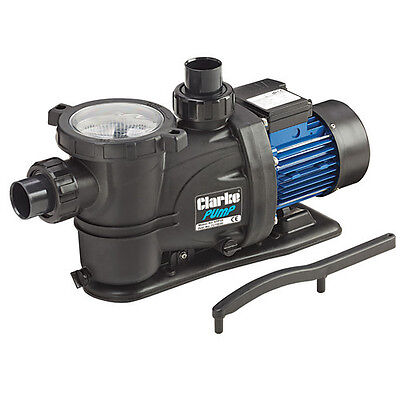 Clarke SPP10 1 HP 750W Swimming Pool Pump Max flow 366 l/min head 15m  230V