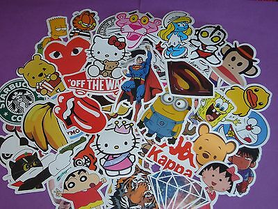 6PC Random Pack Luggage Car Bike Skateboard Fridge Laptop Scooter Decal Stickers