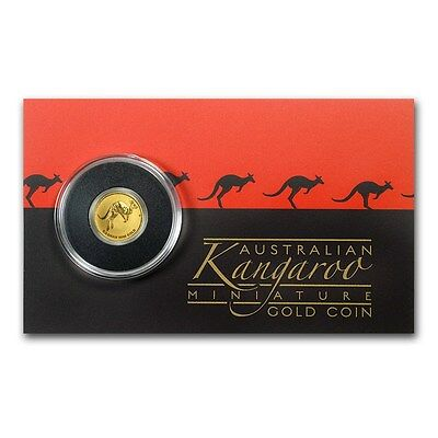 Perth Mint Australia $ 2 2017 Mini Roo Kangaroo 1/2 g 0.5 g gram .9999 Gold Coin