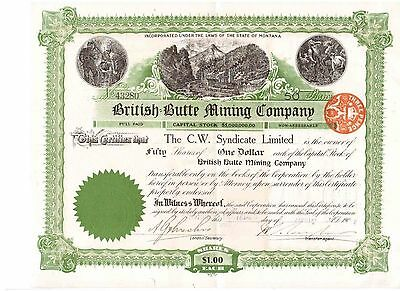 British Butte Mining Company  1907