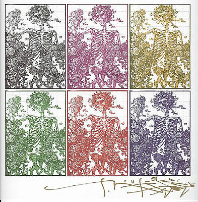 Stanley Mouse Signed 6 Panel Bertha Blotter Art With Photo Grateful Dead