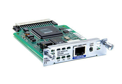 Cisco HWIC-1DSU-T1 -FOR  Cisco 1800 2800 3800 1900 2900 3900 Routers WIC Card