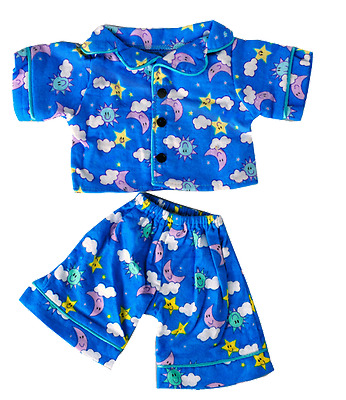 "Blue Moon and Stars PJ's outfit / clothes to fit 8"" bear factory teddy bears"