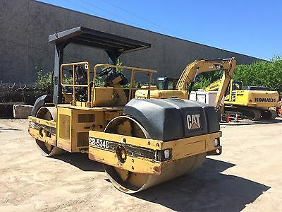 "2000 Caterpillar CB534C 67"" Smooth Double Drum Asphalt Roller Compactor; 5648HRS"