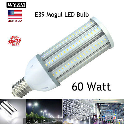 60W Corn LED COB Light Bulb Replaced 400-Watt Mercury Vapor Lamp Mogul Base 110V