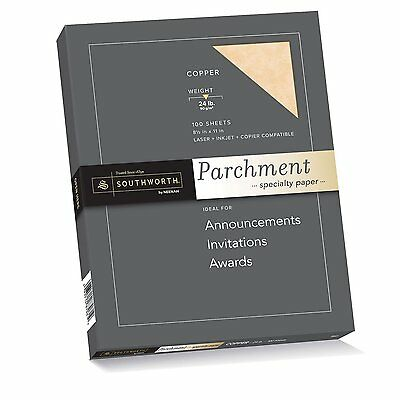 Southworth Colors + Textures Fine Parchment Paper, 24#, 8.5 x 11Inches Inches,