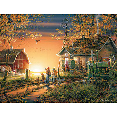 "Jigsaw Puzzle Terry Redlin 1000 Pieces 24""X30"" Morning Surprise WM913"